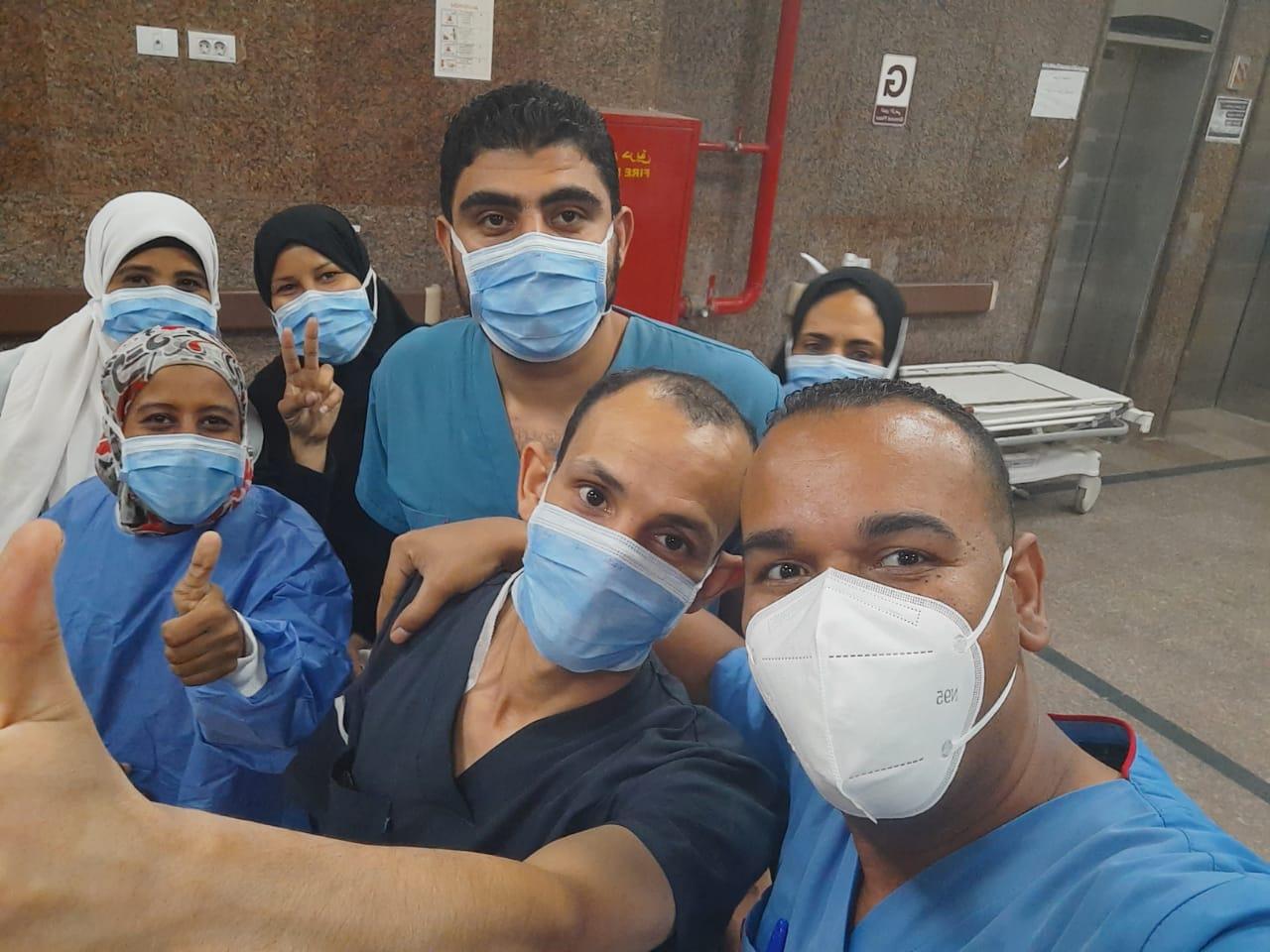 إرتفاع حالات الشفاء بمستشفى الأقصر العام من كورونا لـ366 حالة  (1)