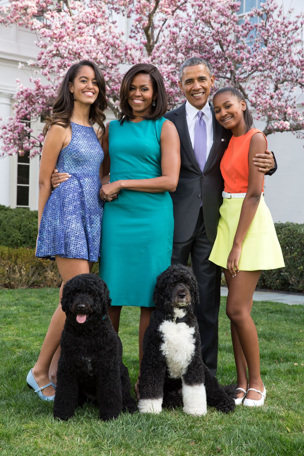 عائلة الرئيس الأمريكي السابق أوباما