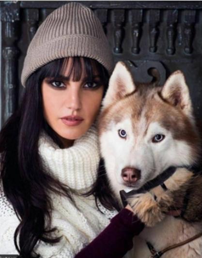 درة مع كلبها الهاسكي