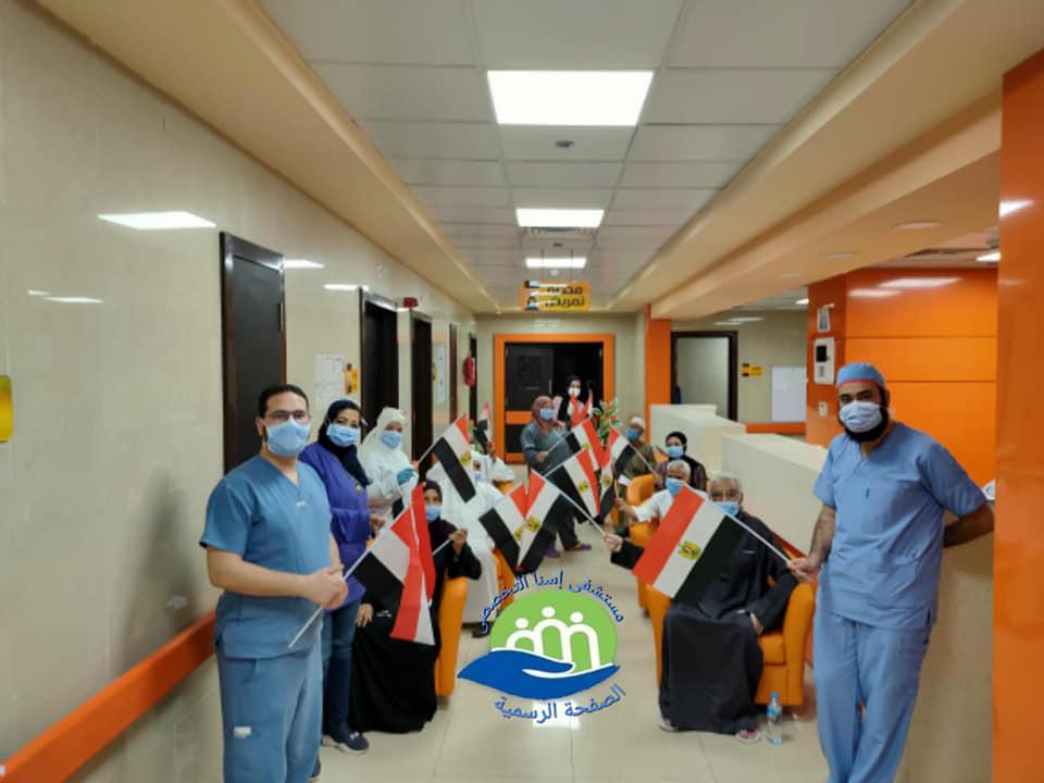 إرتفاع حالات الشفاء بمستشفى إسنا للحجر الصحى لـ1053 تعاف من كورونا (2)