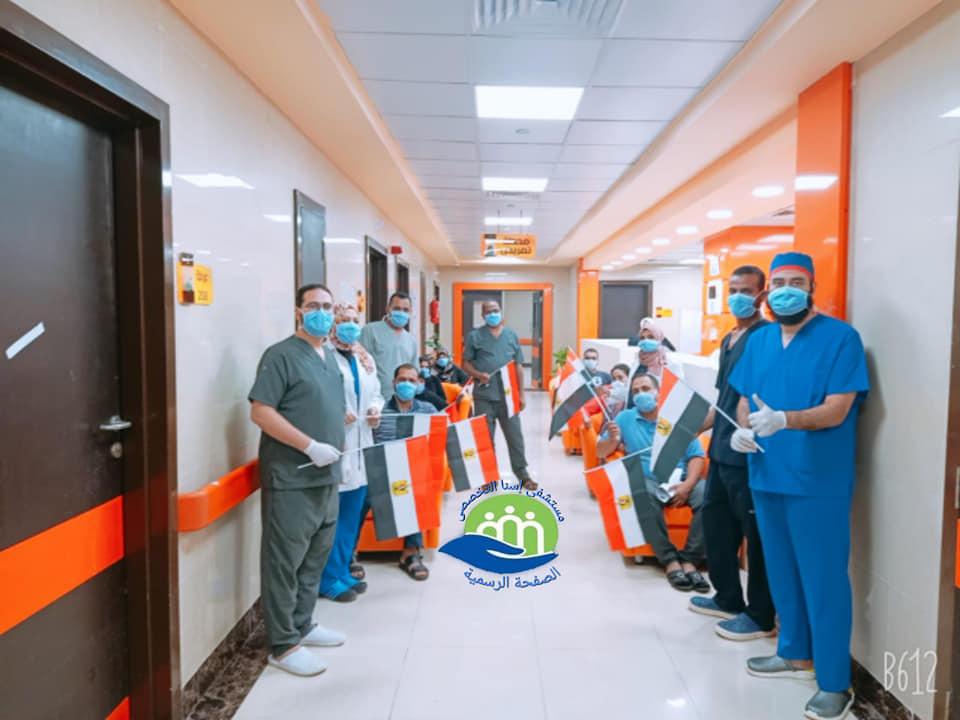 إرتفاع حالات الشفاء بمستشفى إسنا للحجر الصحى لـ1053 تعاف من كورونا (1)