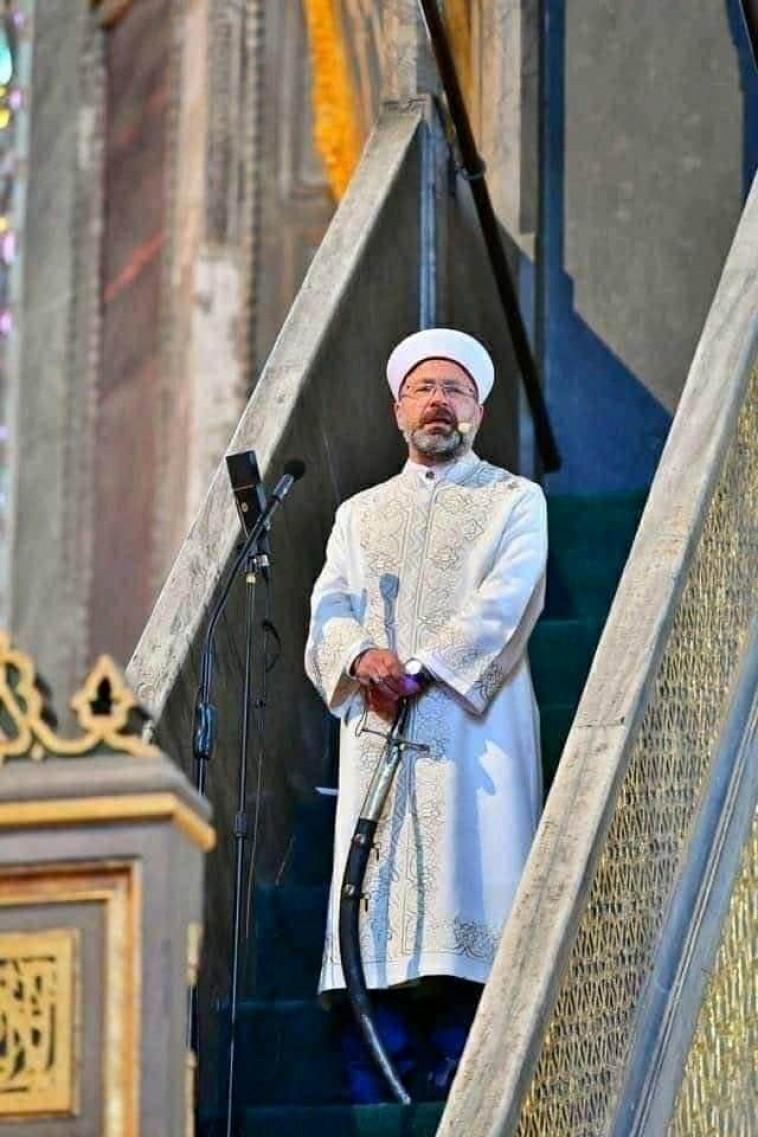سياسة غزاة لماذا حمل خطيب آيا صوفيا سيفا أثناء خطبة الجمعة اليوم السابع
