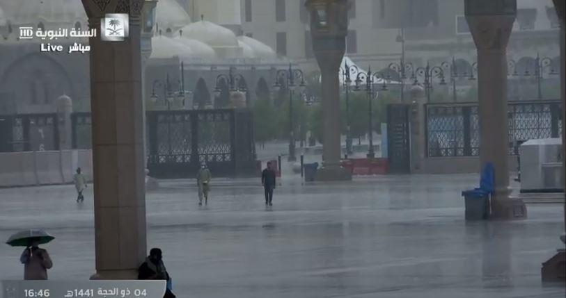 أمطار على المدينة المنورة (2)