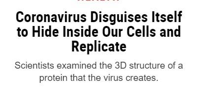 اختباء فيروس كورونا