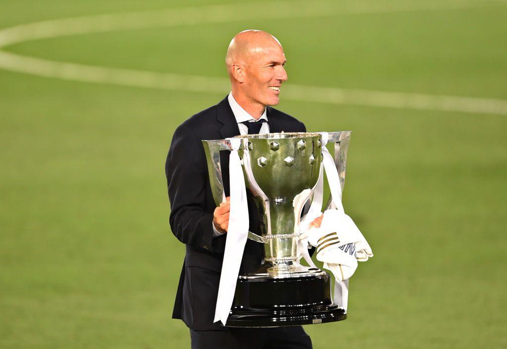 زيدان يحمل لقب الدوري الإسباني