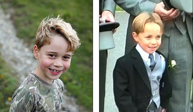 الأمير جورج وجيمس ميدلتون فى طفولته