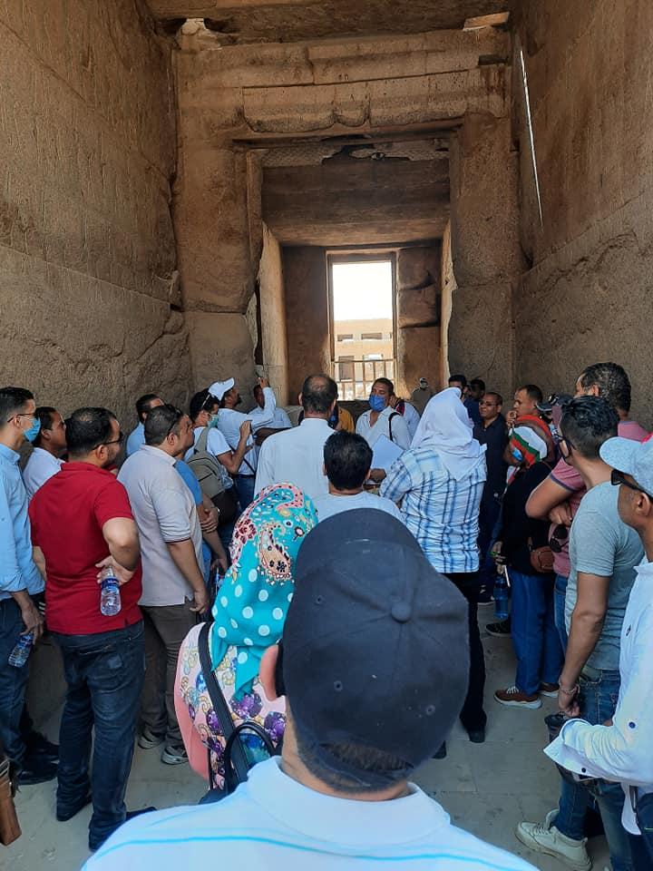 زيارة جديدة لمعابد الكرنك من المرشدين السياحيين لتنشيط السياحة  (4)