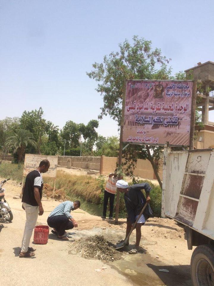 حملات نظافة وتجميل بمشاركة شعبية فى قرى مدينة الزينية (2)