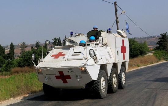 قوات حفظ السلام تتفقد الشريط الحدودى