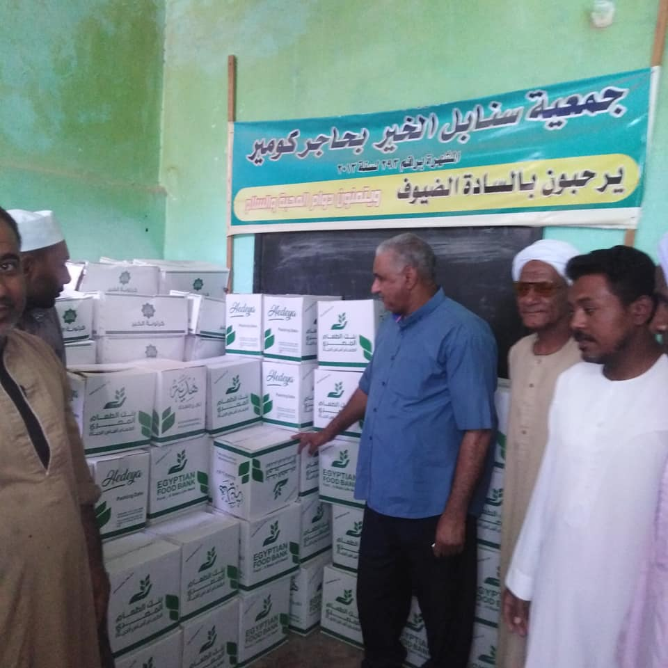 تضامن إسنا تبدأ توزيع 197 كرتونة مواد غذائية للمسنين  (2)