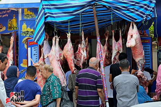 الاقبال على شراء اللحوم