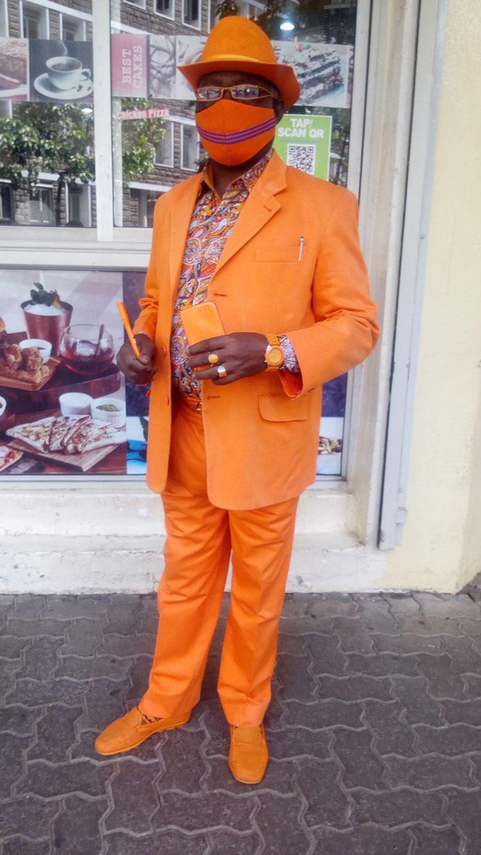 بدلة برتقالى