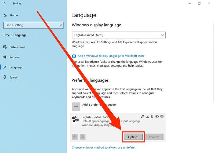 تغيير لغة لوحة المفاتيح على نظام Windows 10  (3)