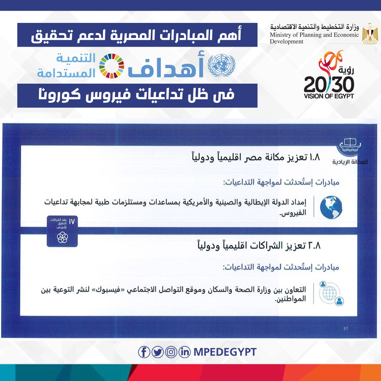 تعزيز مكانة مصر إقليمياً ودولياً