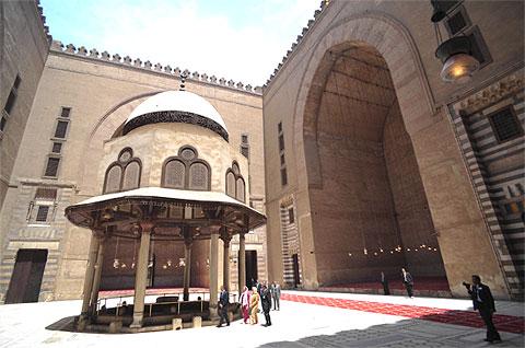 زيارة أوباما لمسجد السلطان حسن