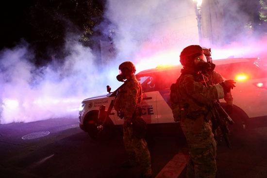 الشرطة في احتجاجات بورتلاند