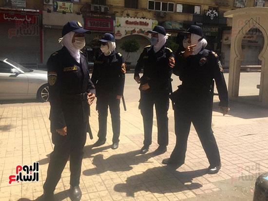 الشرطة النسائية تؤمن السينمات فى العيد