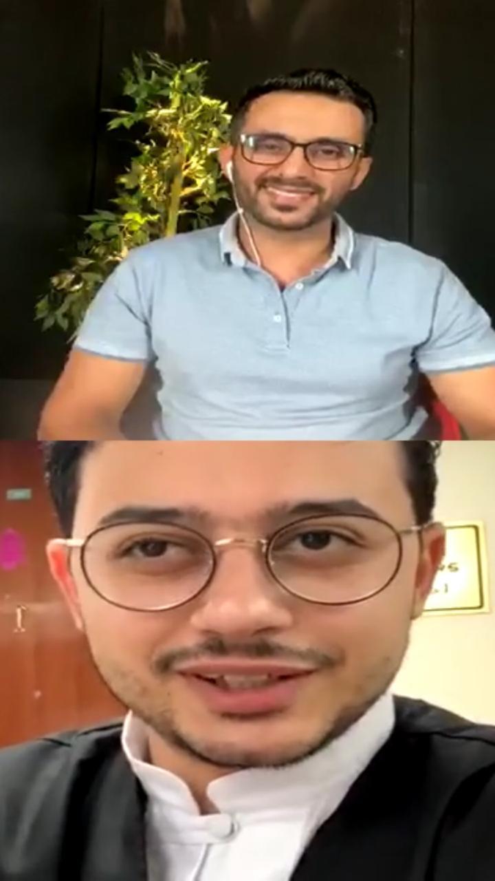 المنشد مصطفى عاطف والزميل محمد أسعد  (4)