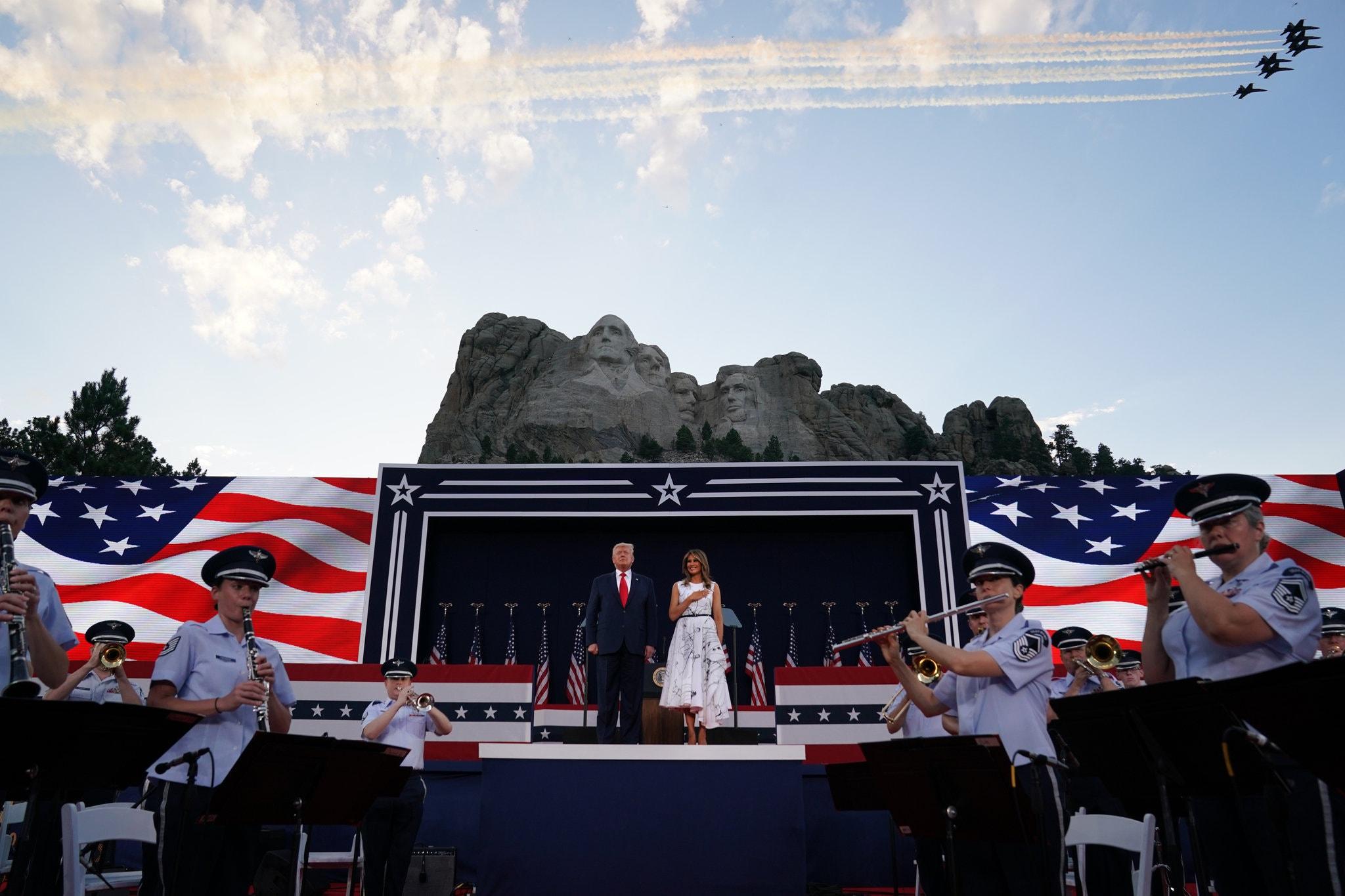 ترامب فى عيد الاستقلال
