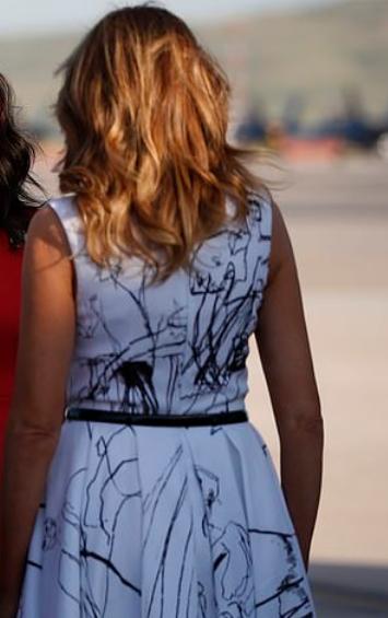 فستان ميلانيا ترامب