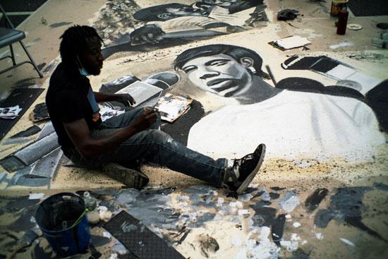 جانب من الجرافيتى الذى تم رسمه فى شوارع نيويورك