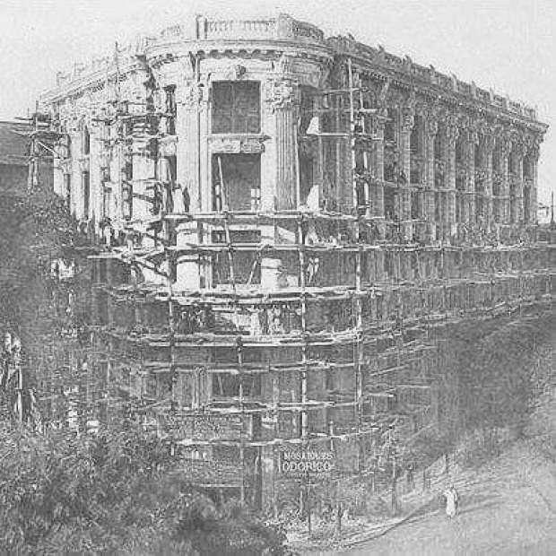 صورة نادرة لبناء فرع عبد العزيز التاريخى بعمر افندى