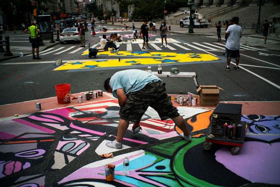 جرافيتى فى شوارع نيويورك