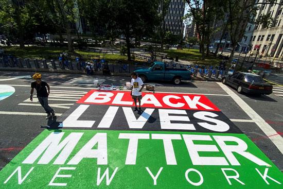 حياة السود مهمة فى شوارع نيويورك