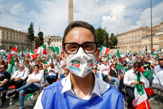 أحد المشاركين فى المظاهرة