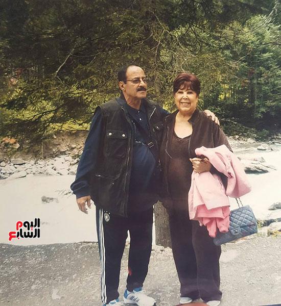 رجاء الجداوي وزوجها