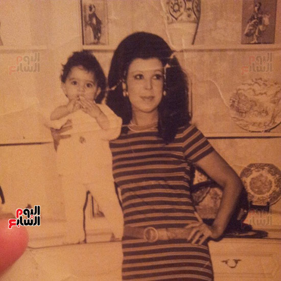 رجاء الجداوي مع ابنتها