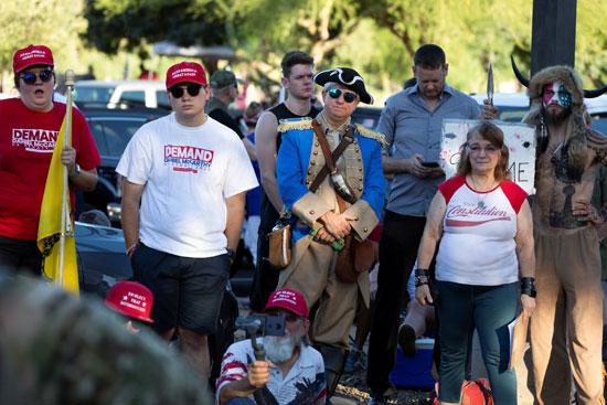 جانب من المتظاهرين فى أريزونا