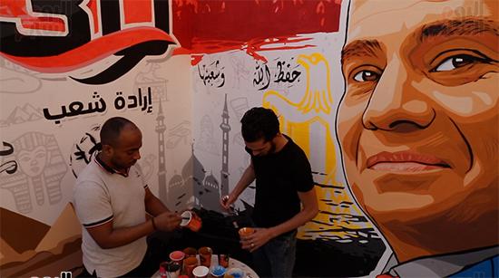 جرافيتي 30 يونيو والرئيس السيسى (1)