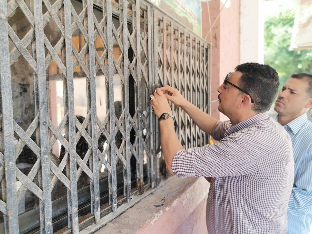 غلق منفذ وزارة الزراعة لبيع اللحوم (1)