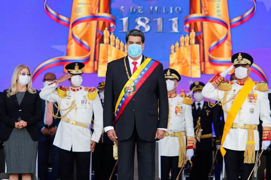 الرئيس نيكولاس مادورو يشارك فى الاحتفالات
