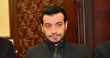 حزلء وانهيار ايهاب توفيق فى عزاء والده