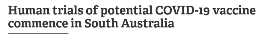 التجارب البشرية الثالثة على لقاح أستراليا