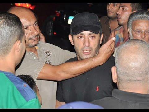 دموع أحمد السقا فى جنازة خالد صالح
