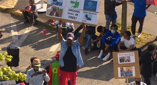 مئات الإثيوبيين فى أمريكا يتظاهرون (3)