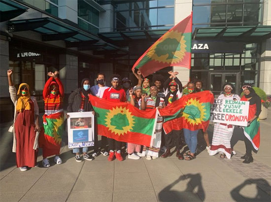 مئات الإثيوبيين فى أمريكا يتظاهرون (2)