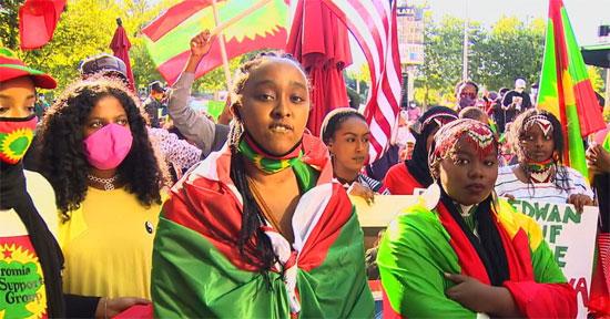 مئات الإثيوبيين فى أمريكا يتظاهرون (1)