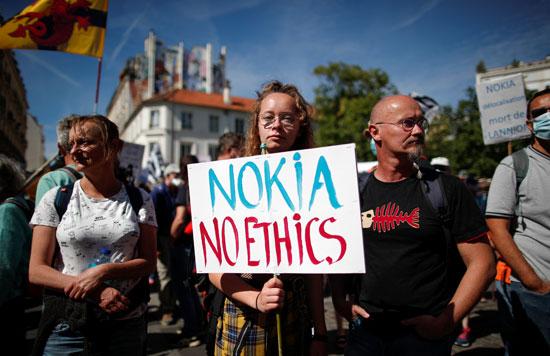 احتجاجات لموظفى نوكيا