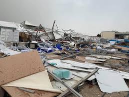 انهيار مستشفى ميدانى فى قطر