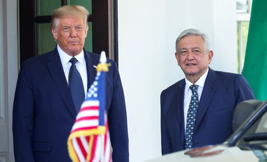 ترامب ونظيره المكسيكى