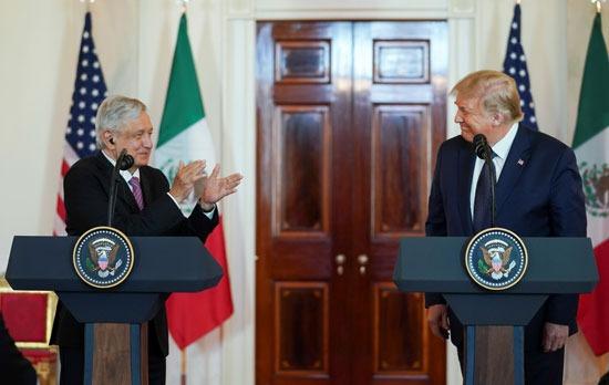 تحية من رئيس المكسيك لنظيره الأمريكى