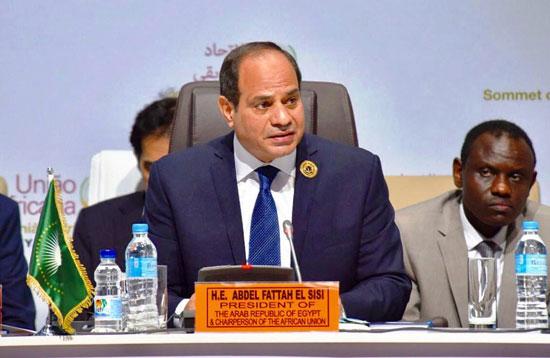 خطاب الرئيس السيسى في الاتحاد الأفريقي (2)