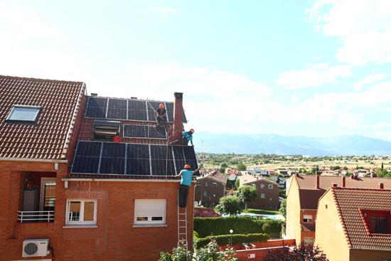 تثبيت محطة طاقة شمسية