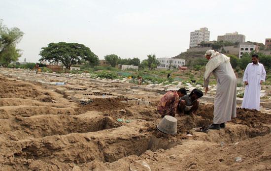 توسيع المقابر الجماعية فى اليمن