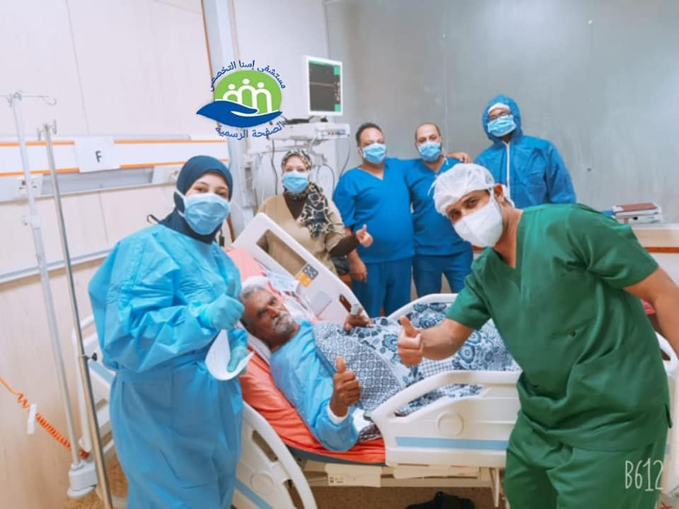 خروج 13 حالة شفاء من كورونا بمستشفى إسنا للحجر الصحى (3)