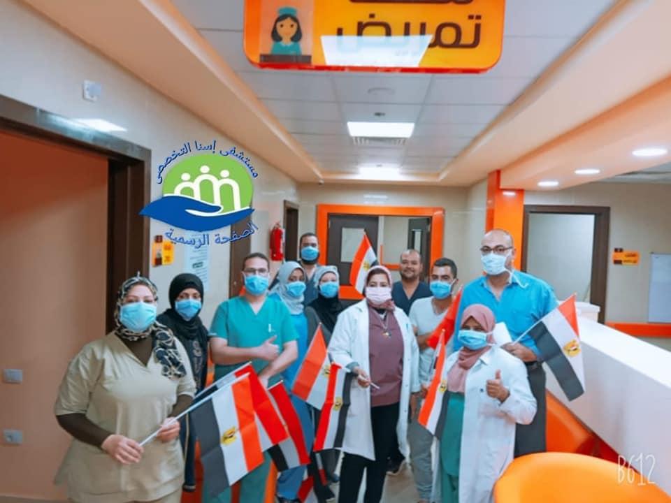 خروج 13 حالة شفاء من كورونا بمستشفى إسنا للحجر الصحى (1)